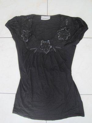Shirt schwarz mit Pailletten