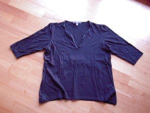 Shirt schwarz mit Perlen 3/4 Arm