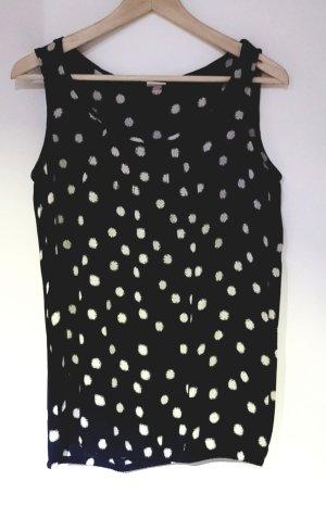 Shirt, schwarz mit weißen Punkten