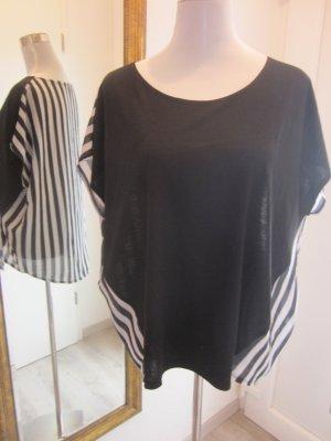 Shirt schwarz & Schwarz Weiss Gestereift Gr L