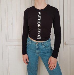 Shirt schwarz T-shirt tshirt croptop crop top weiß cut out bluse hemd pulli pullover sweater