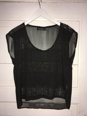 Shirt schwarz transparent Häkel Spitze locker aus Buenos Aires