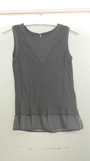 Shirt schwarz transparenter Ausschnitt