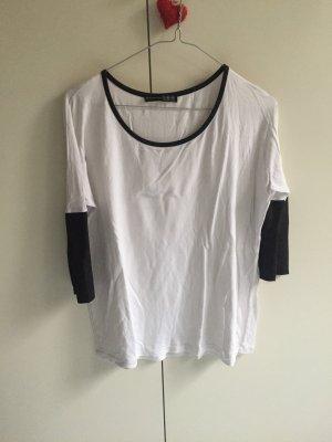 Shirt schwarz weiß Bequem