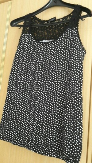 Shirt schwarz weiß gepunktet