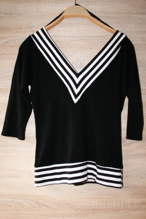 Shirt schwarz-weiß gestreift gr.40