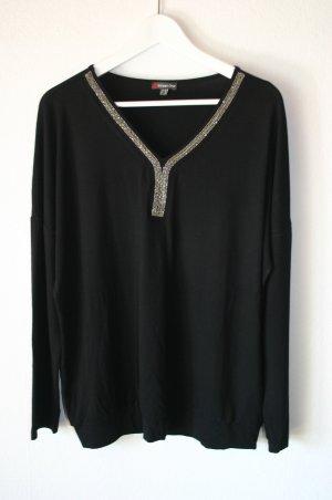 """Shirt """"Shara"""" von Street One schwarz / silber Gr. 42 NEU"""