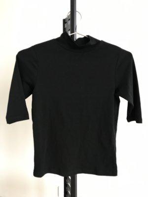 Shirt Stehkragen schwarz Topshop NEU Basic XS