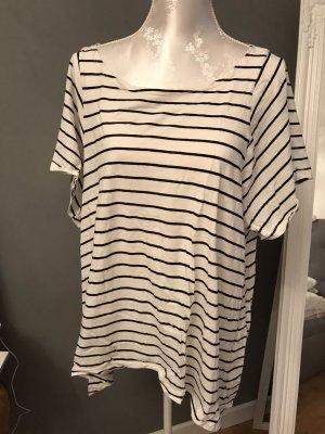 H&M Oversized shirt wit-zwart