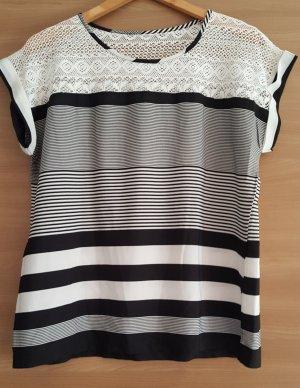Shirt Streifen Spitze Gr. 42 #389