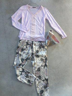 Strenesse T-shirt col en V rose clair