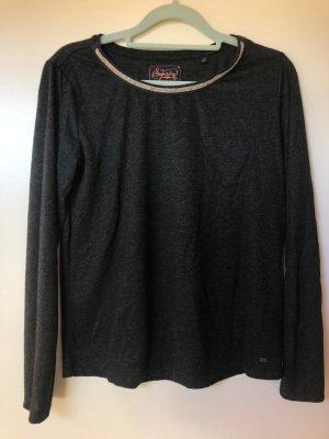 Shirt Superdry Dunkelgrün Glitzer Silber