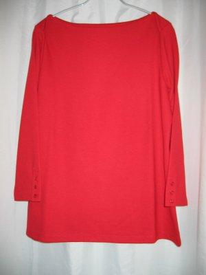 Shirt Sweatshirt U-Boot-Shirt 3/4-Arm Gr. 38 rot LANDS' END