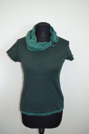 Shirt, T-Shirt, Kragen, grün