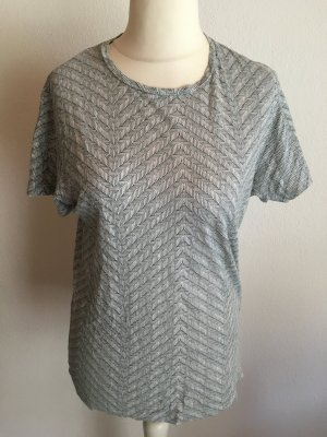 Shirt T-Shirt locker oversized gemustert Gr. M
