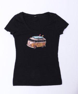 Camicia fantasia nero Cotone