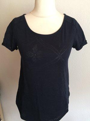 Shirt T-Shirt Oberteil oversized locker dunkelblau Gr. 34
