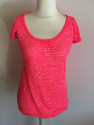 Shirt T-Shirt Oberteil pink neon Gr. M TOP