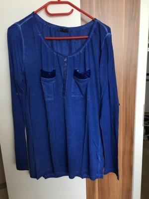 Shirt T-Shirt Pailettenshirt *Gr. 36/38* Blau *Laur Scott* NEU