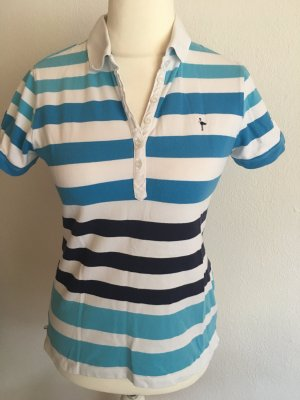 Shirt T-Shirt Polo gestreift weiß blau Gr. 36/38