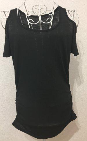 Shirt T-Shirt schulterfrei *Gr. S* Schwarz