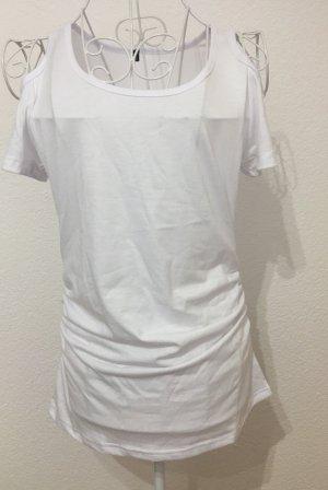 Shirt T-Shirt schulterfrei *Gr. S* Weiß