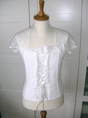 Shirt, T-Shirt, Spitzenshirt, nude, creme, Ashley Brooke, Gr. 38