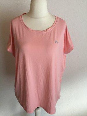 Shirt T-Shirt Sport Oberteil rosa locker oversized Gr. XL NEU