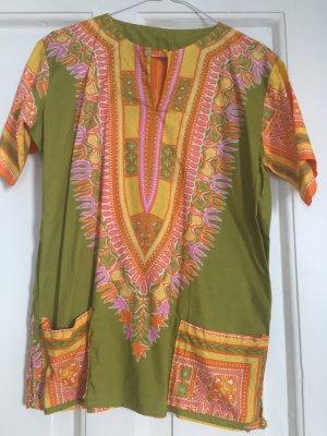 Shirt T-Shirt Top Afrika afrikanisch orange gelb grün