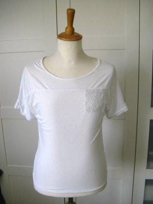 Shirt, T-Shirt, weiß, Gr. 34