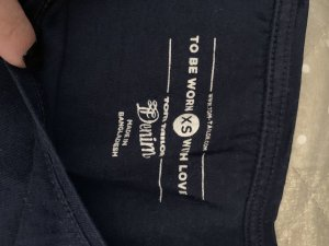 Tom Tailor Denim Shirt dark blue-white