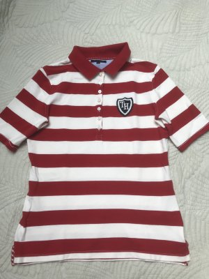 Tommy Hilfiger Polo bianco-rosso