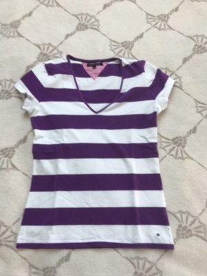 Tommy Hilfiger T-shirt col en V blanc-violet