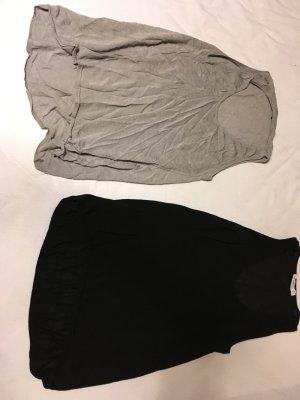 Zara Knit Top básico negro-marrón grisáceo