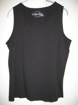 Shirt Top ärmellos Gr. 40 schwarz CAVITA