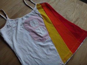 Shirt Top Gr. XS 34 Gestreift Streifen weiß gelb orange