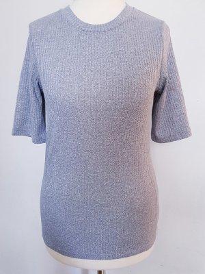 Chemise côtelée gris clair-gris