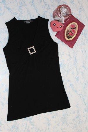 Shirt top oberteil mit strass und v-Ausschnitt gr. 36