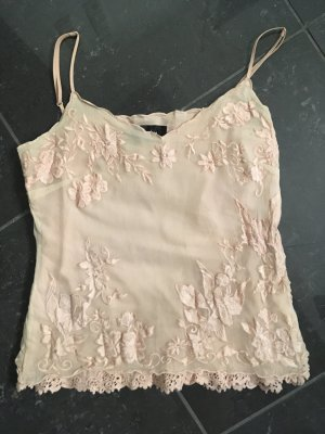 Nicowa Crochet Top rose-gold-coloured