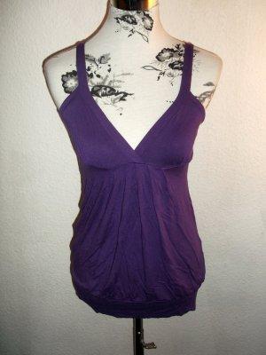 Shirt Top V-Ausschnitt lila von Pimkie