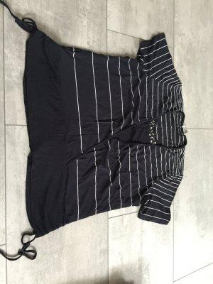 Bonita Print Shirt dark blue-white