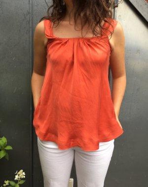 Shirt Top von Mango mit Volants S 36 aus reiner Seide