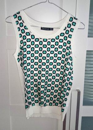 Shirt Top weiß türkis schwarz in Gr. S vom italienischen Designer Label Pedro del Hierro