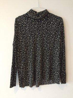 Topshop Cropped shirt wit-zwart