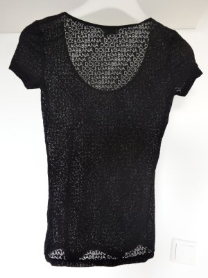 Dolce & Gabbana Mesh Shirt black mixture fibre