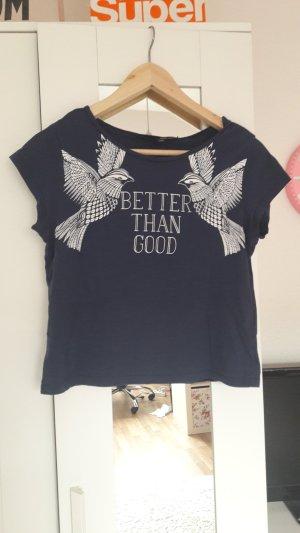 Shirt Tshirt von Tally Weijl Größe XXS blau