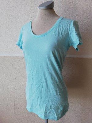 Shirt türkis Gr. 34 XS neu Tshirt kurzarm Top Oberteil