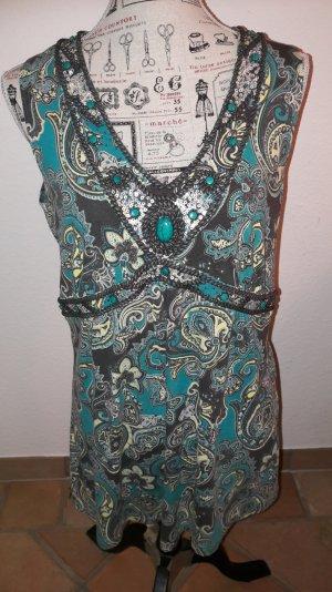 Shirt, Tunika ärmellos mit Steinen u.Pailletten