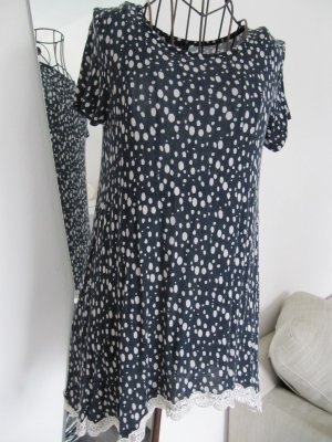 Janina Camicia a tunica blu scuro-bianco sporco Viscosa