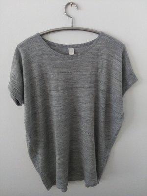 Vila Oversized shirt zilver-lichtgrijs